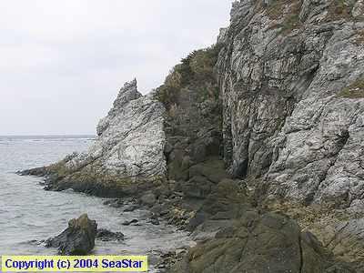 安山岩岩脈