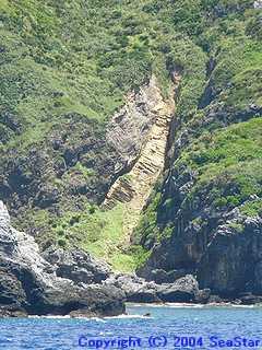 ひん岩の岩脈