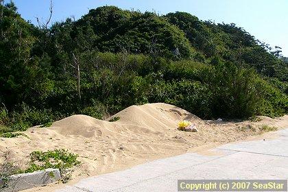 初砂の準備