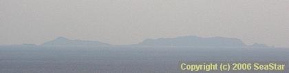 久米島から望む渡名喜島