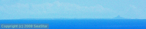渡名喜島から望む伊江島