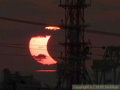 日没帯食(部分日食)