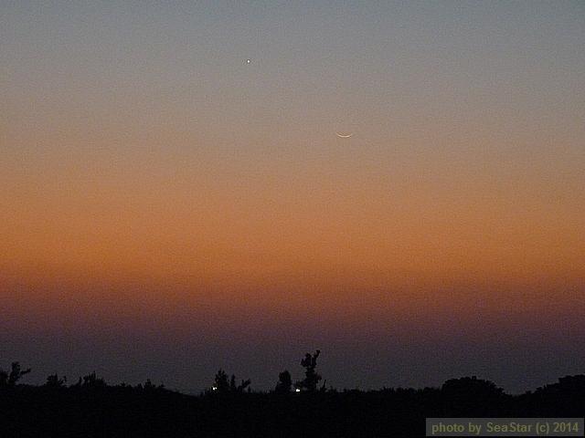 月齢1の月と金星の会合