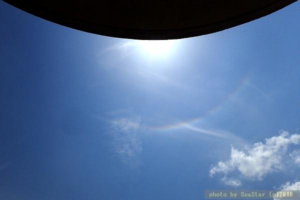 日暈(22度ハロ)