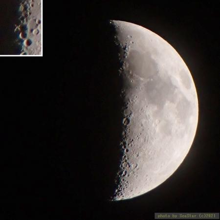 2021/04/19 21:15頃,月面X