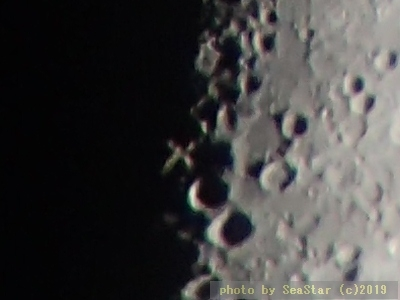 月面Xの拡大;2019年01月13日22:10頃