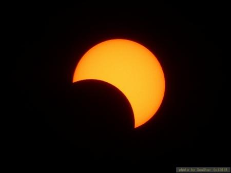 部分日食,2019年12月26日 15:19頃
